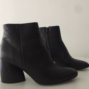 COS Curved heel boot in Black
